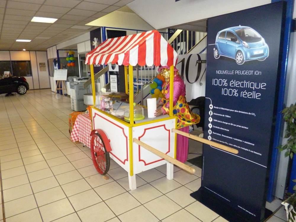 Diverty'Kids animation commerciale stand gaufre