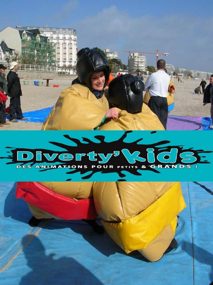Diverty'Kids location sumo gonflable avec tatamis