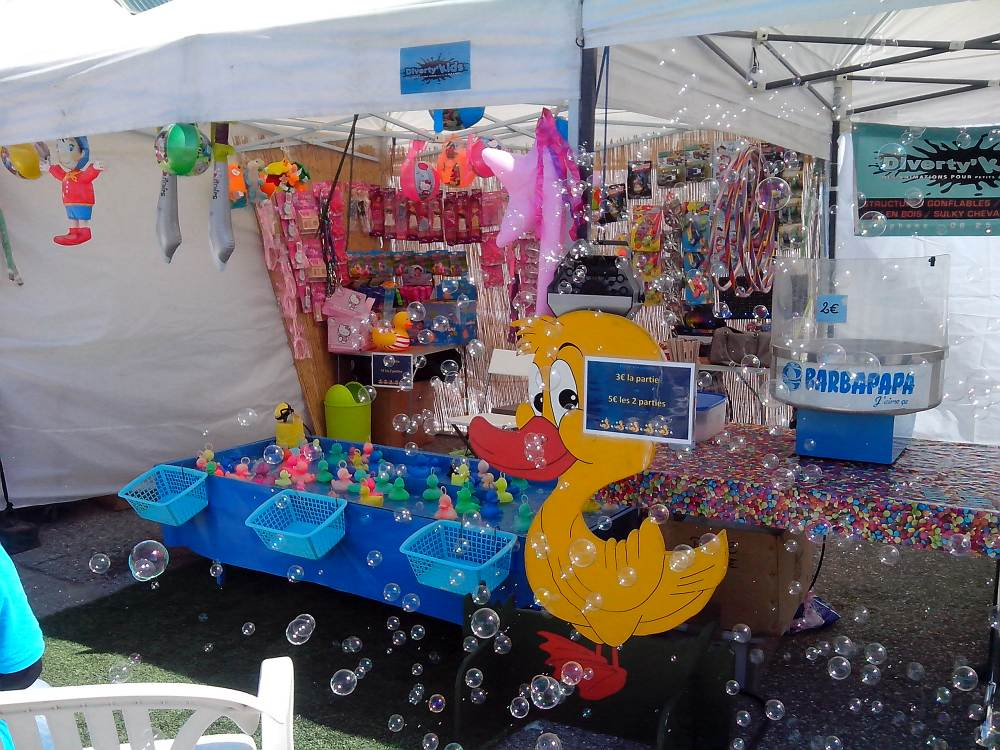 Location stand forain peche aux canards isere rhone alpes