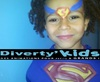 Diverty'Kids anniversaire superman maquillage