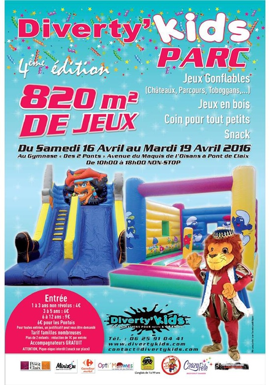 diverty'kids parc Grenoble Pont-de-Claix