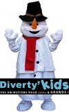 Diverty'Kids, location mascotte noël bonhome de neige