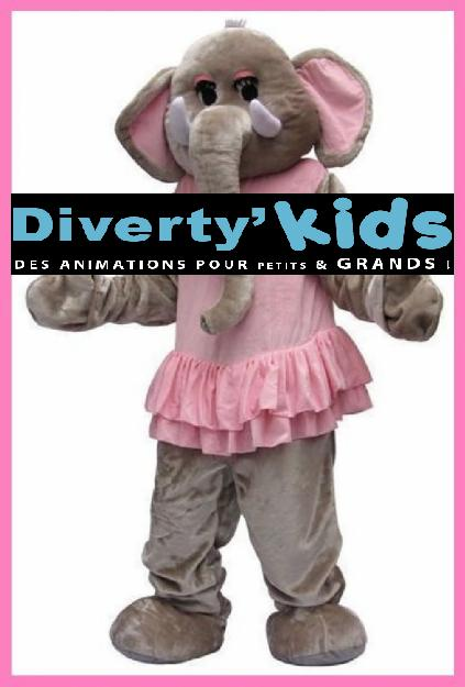 Diverty'Kids, location mascotte éléphant coldplay