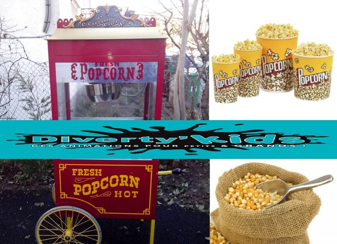Diverty'Kids location stand pop corn