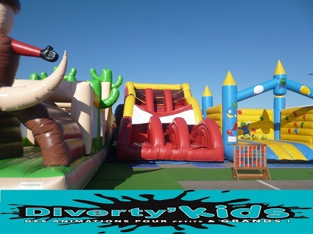 Diverty'Kids location animation baby foot gonflable humain
